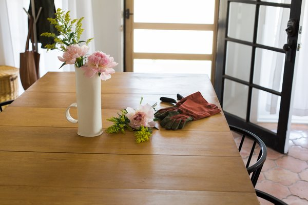 Modern home with dining room and table. Kitchen table doubles as work space Photo 12 of PILGRIM HOUSE