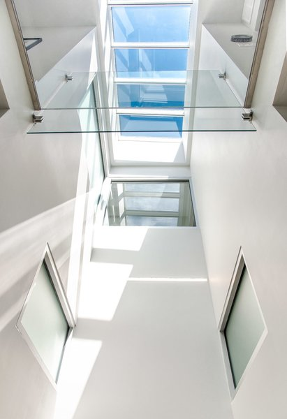 Sky Light with side glass windows to light inner bathroom  Photo 3 of Modern Building Approved in Jackson Ward-Historic district modern home