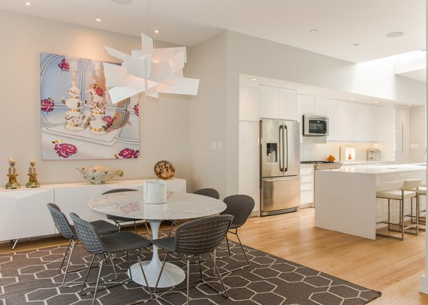 Dining room towards kitchen Photo 13 of Modern Building Approved in Jackson Ward-Historic district modern home