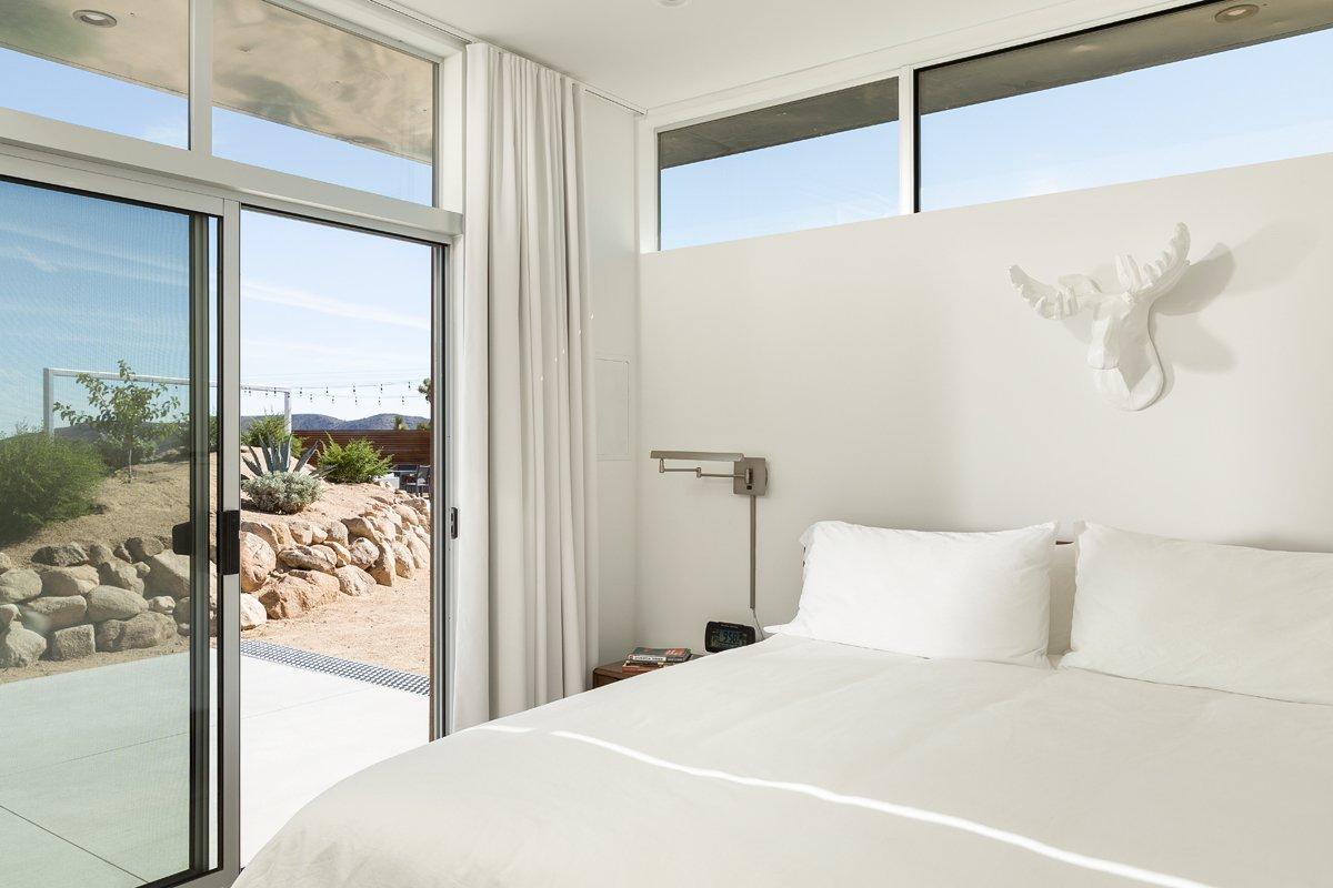 One-bedroom sleeping area in the Casita