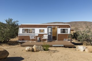 This Modern Homestead With a Vintage Trailer Offers Adventure in California's High Desert - Photo 8 of 10 - A revamped 1973 Holiday Rambler is now an all-new living space.