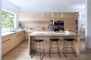 The custom kitchen was designed by local furniture designer and manufacturer Christian Woo.