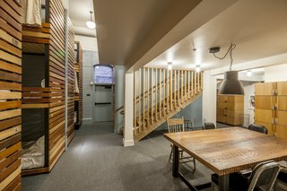 A Chic Portland Hotel Offers Lodging As Affordable as $35 a Night - Photo 5 of 10 - A hostel-like bunk room occupies the lower level of the hotel. Guests are provided with personal lockers and have access to a shared kitchen.