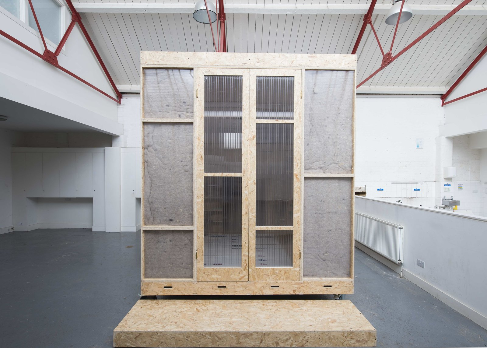 Tagged: Living Space, Doors, Exterior, Wood, and Folding Door Type.  Photo 3 of 9 in A New Concept For Modular, Affordable Housing Is Coming to London's Vacant Buildings