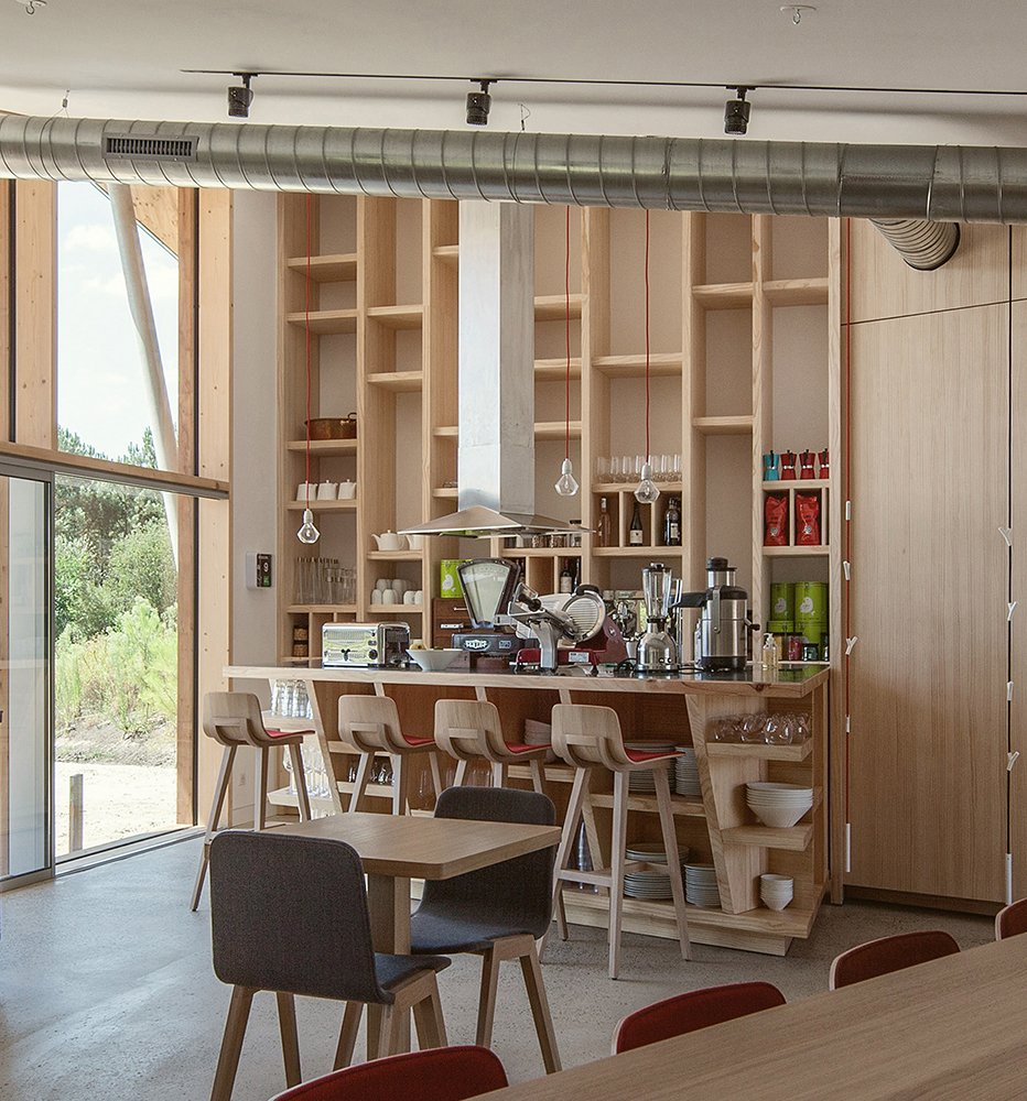 Tagged: Dining, Chair, Stools, Bar, Shelves, Storage, Pendant, and Accent.  Best Dining Pendant Stools Photos from Harmonizing With Nature, These Eco-Huts Offer Respite in the Heart of France