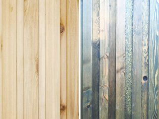 A Modern Micro-House in Portland Clad in Local Fir - Photo 3 of 8 - The exterior skin, a board and batten system made of local fir, was built in FWD's fabrication studio.