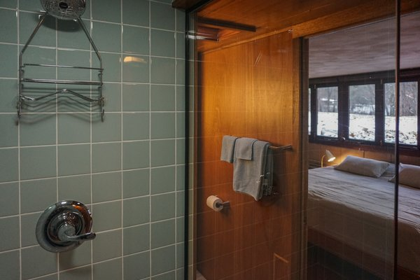 Unsold tiles from the 1950's were sourced from Battle Creek Tiles & Mosaic.  The vintage tiles maintain the original character of the home in the renovated baths.