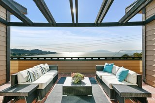 A Bay Area Jewel With Golden Gate Views Wants $1.55M - Photo 11 of 14 - Sweeping views from the many terraces look onto the bay.
