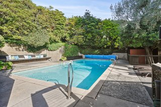 A Bay Area Jewel With Golden Gate Views Wants $1.55M - Photo 14 of 14 - A solar heated pool is one of the many modern amenities that add to the iconic estate.
