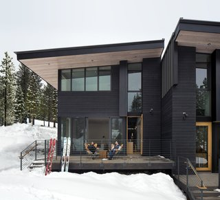 These Contemporary Lake Tahoe Chalets Have Ski-In, Ski-Out Access - Photo 3 of 11 - The subtle offset between townhomes creates private deck space for each unit.