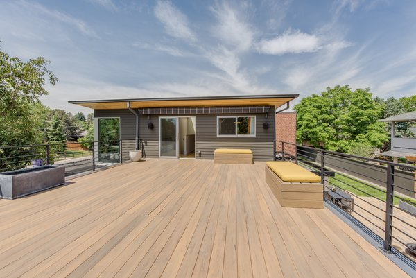 Modern home with outdoor and rooftop. Second Floor Outdoor Deck Photo 3 of The Ryan House