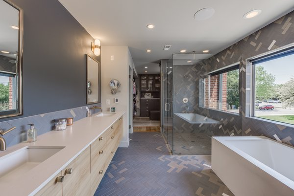 Modern home with bath room. Master Bath Photo 6 of The Ryan House