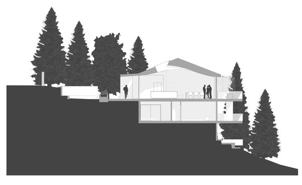 Site Section Photo 13 of Skyline House modern home
