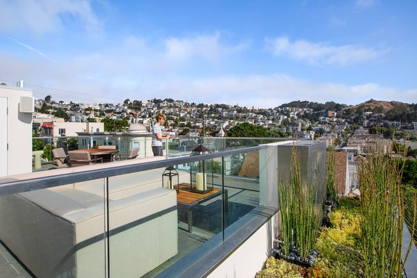 Modern home with outdoor, rooftop, large patio, porch, deck, and tile patio, porch, deck. Photo  of LEED Platinum House in SF