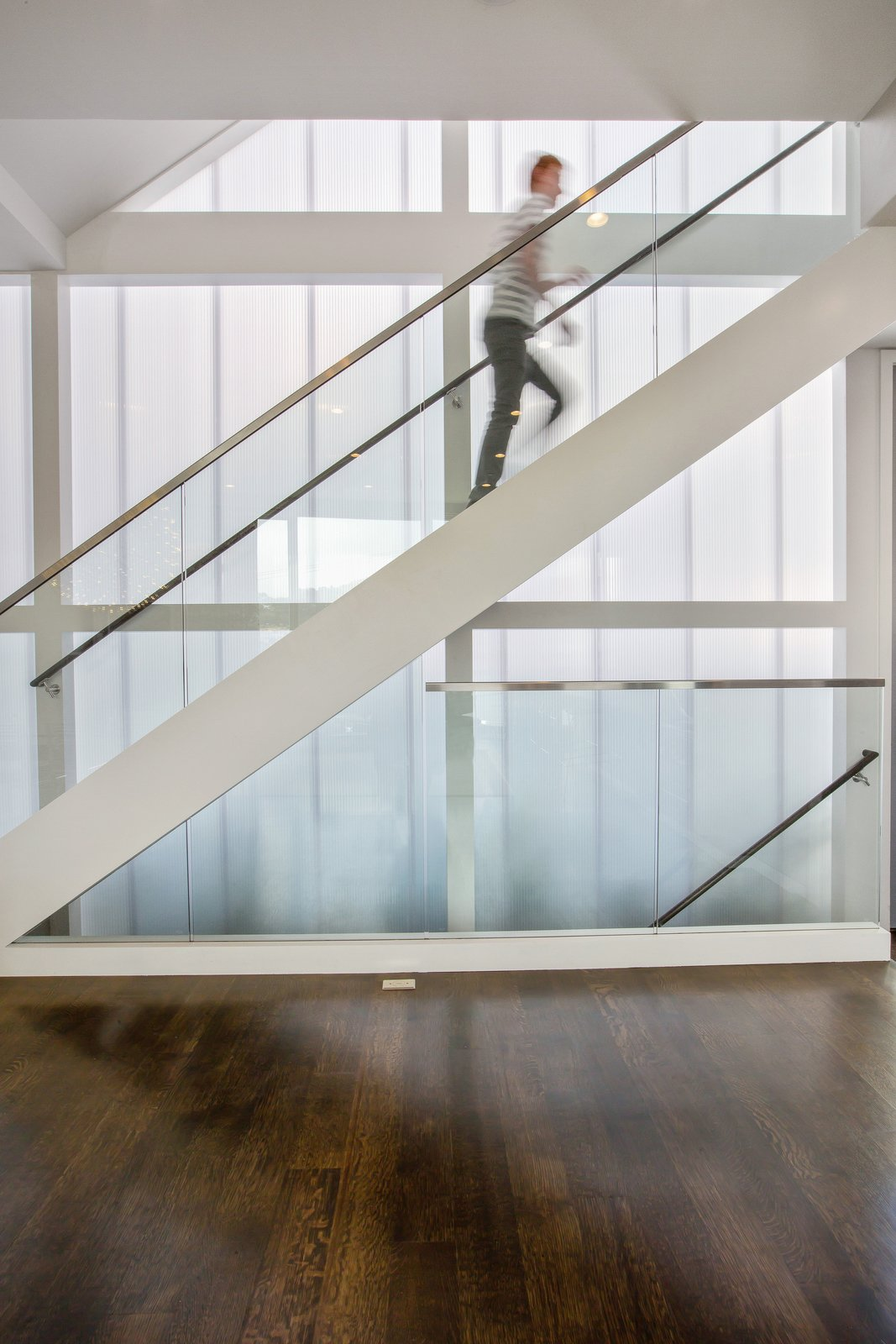Tagged: Staircase, Glass Railing, and Wood Tread.  LEED Platinum House in SF by DNM Architecture