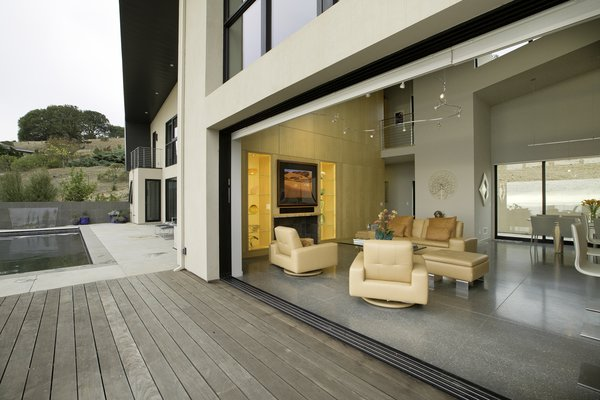 Modern home with outdoor, back yard, lap pool, and large patio, porch, deck. Photo 7 of Sonoma SIPS House