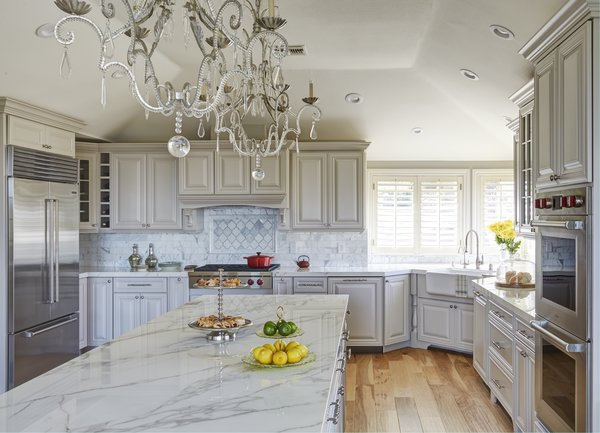 Glamorous soft gray and white kitchen Photo 2 of Luxe Living modern home
