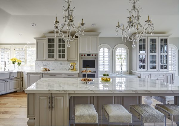Glamorous soft gray and white kitchen  Photo 3 of Luxe Living modern home