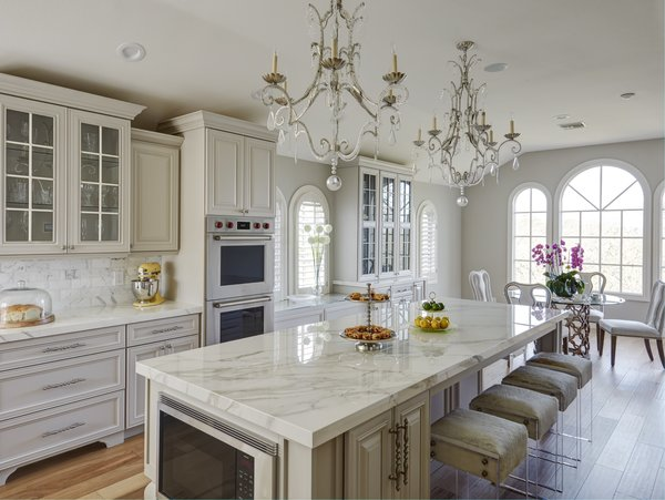 Glamorous soft gray and white kitchen  Photo 4 of Luxe Living modern home