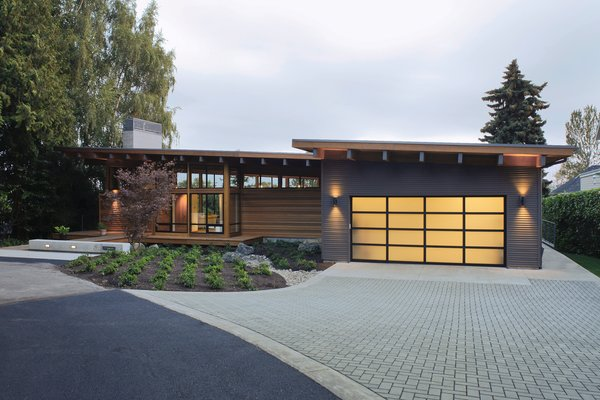 Modern home with garage, storage, and attached garage. Garage Photo 2 of Hotchkiss Residence