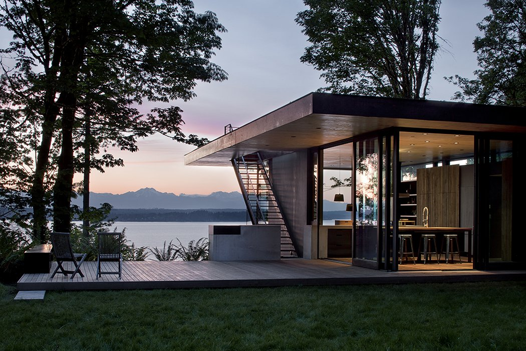 Case Inlet Retreat Tagged: Outdoor, Grass, Back Yard, Small Patio, Porch, Deck, and Wood Patio, Porch, Deck.  Case Inlet Retreat by mw|works