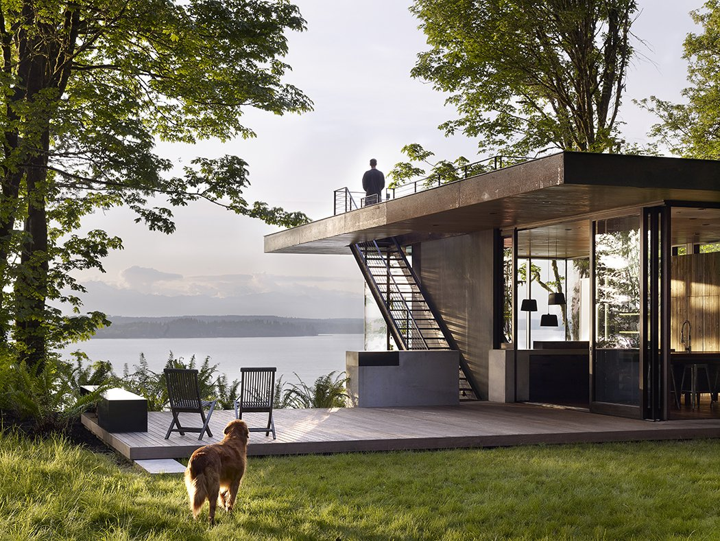 Case Inlet Retreat Tagged: Outdoor, Wood Patio, Porch, Deck, Back Yard, Trees, Grass, and Decking Patio, Porch, Deck.  Case Inlet Retreat by mw|works