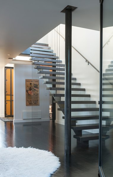 Modern home with staircase. Phinney Ridge Residence Photo 3 of Phinney Ridge Residence