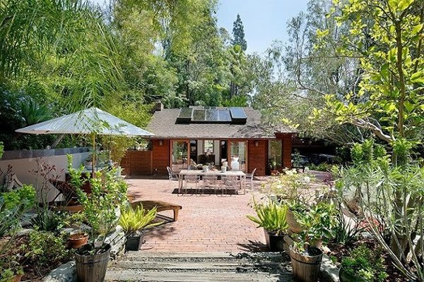 Modern home with outdoor, trees, and side yard. Side Yard Photo 17 of Cedar Lodge on over a 1/2 Private Acre in Lower Nichols Canyon