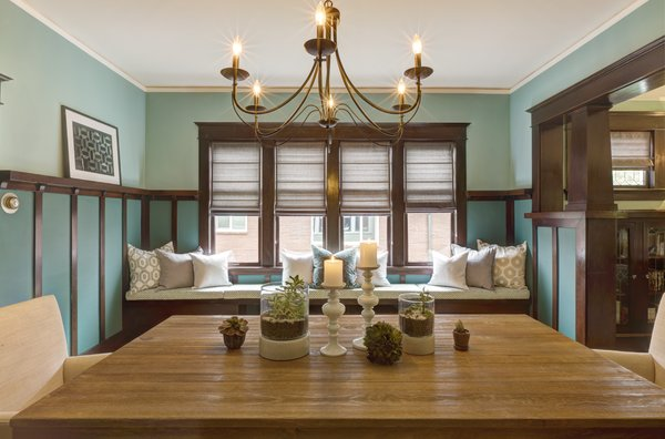 Modern home with dining room, ceiling lighting, table, chair, and bench. Photo 6 of Craftsman Cool