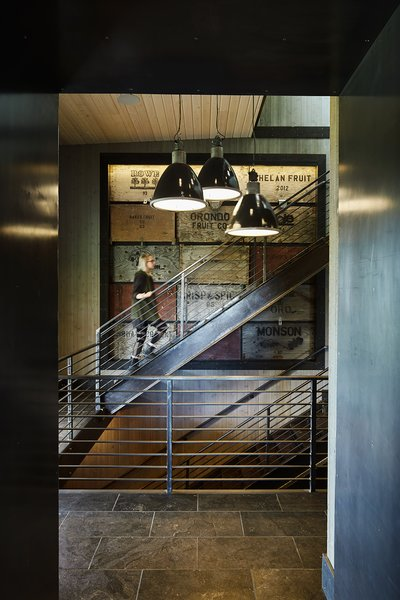 Modern home with staircase. Manson Barn by SkB Architects Photo 5 of Manson Barn