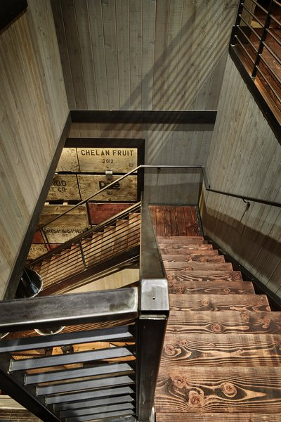 Modern home with staircase. Manson Barn by SkB Architects Photo 15 of Manson Barn
