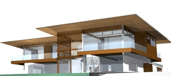 3D model drawing Photo 14 of Pacific Breeze house overlooking the Ocean modern home