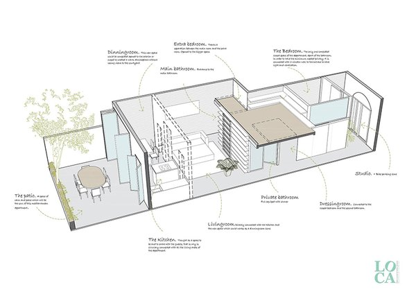 axonometric drawing Photo 10 of Can Ghalili modern home
