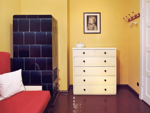 Modern home with kids room, bed, shelves, night stands, storage, medium hardwood floor, bedroom, pre-teen age, teen age, and neutral gender. 2nd bedroom  Photo 9 of Taut´s Home (Tautes Heim) - Rentable museum of design and architecture of the 1920s