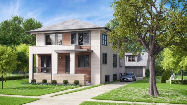 Exterior Rendering Photo  of BrightLeaf Eco3 modern home