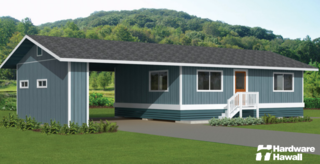 7 Hawaiian Prefabs and Kit Homes - Photo 7 of 7 - Hardware Hawaii offers eight kit home options. The roof styles, decks, carports, and more can be customized to fit your own personal taste.