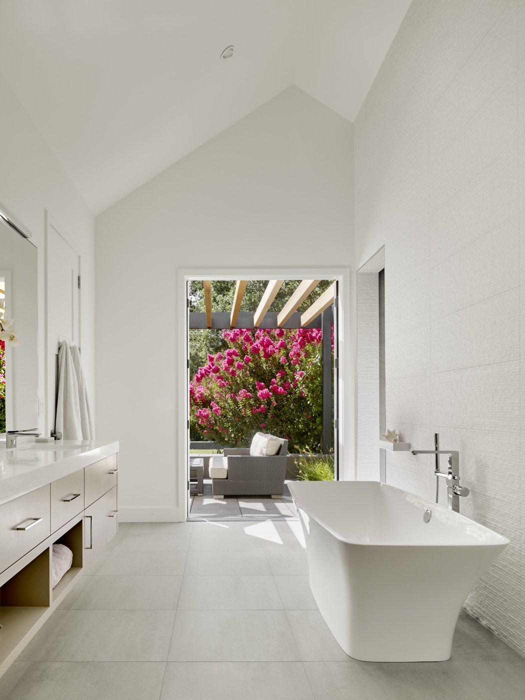 Master Bath.  Sunday chill.