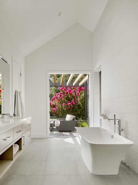 Modern home with bath room and freestanding tub. Master Bath.  Sunday chill. Photo 3 of Wine Country Cool