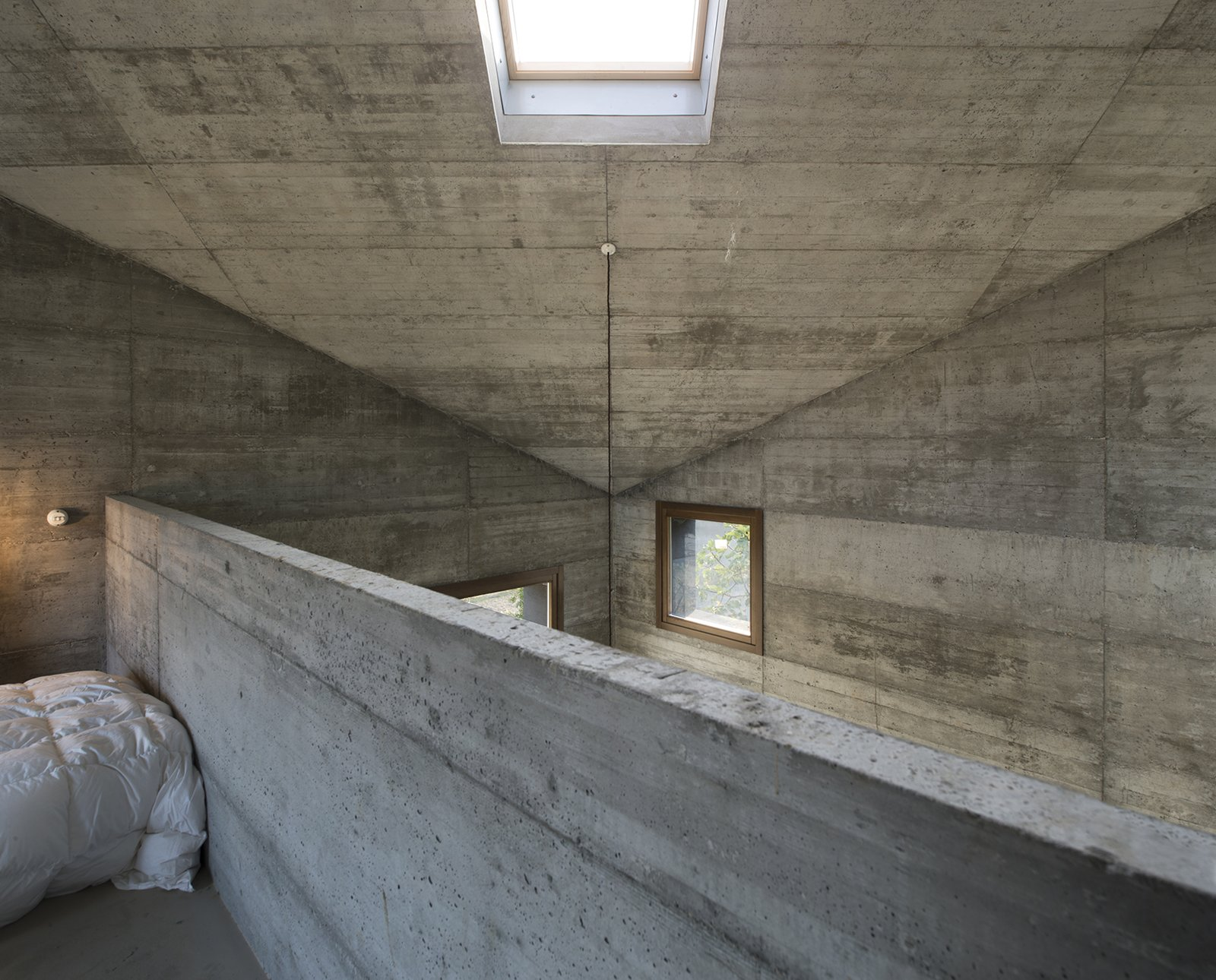 Tagged: Bedroom, Bed, Pendant Lighting, and Concrete Floor.  HOUSE R by 35astudio