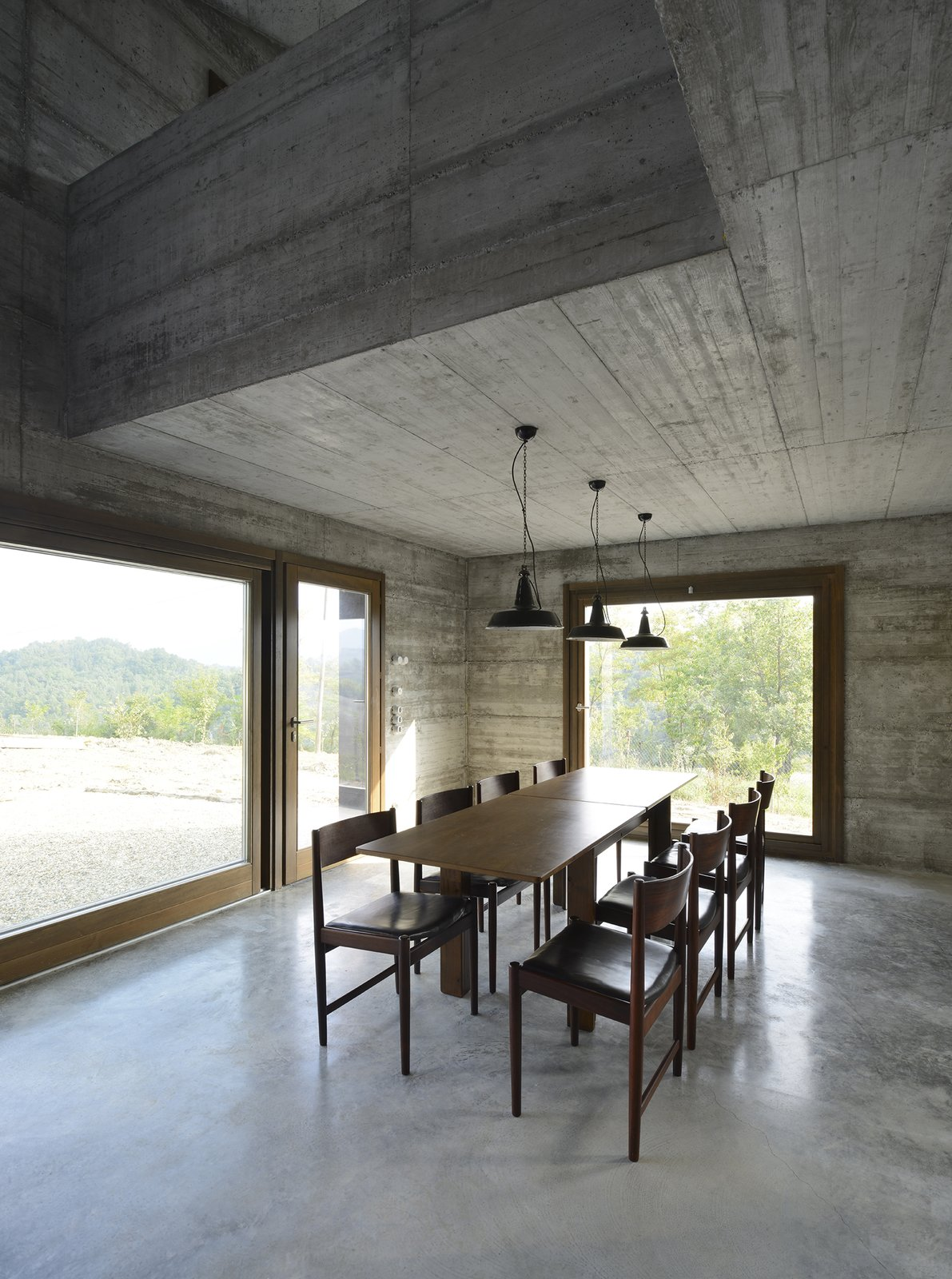 Tagged: Dining Room, Table, Ceiling Lighting, Chair, Concrete Floor, and Pendant Lighting.  HOUSE R by 35astudio