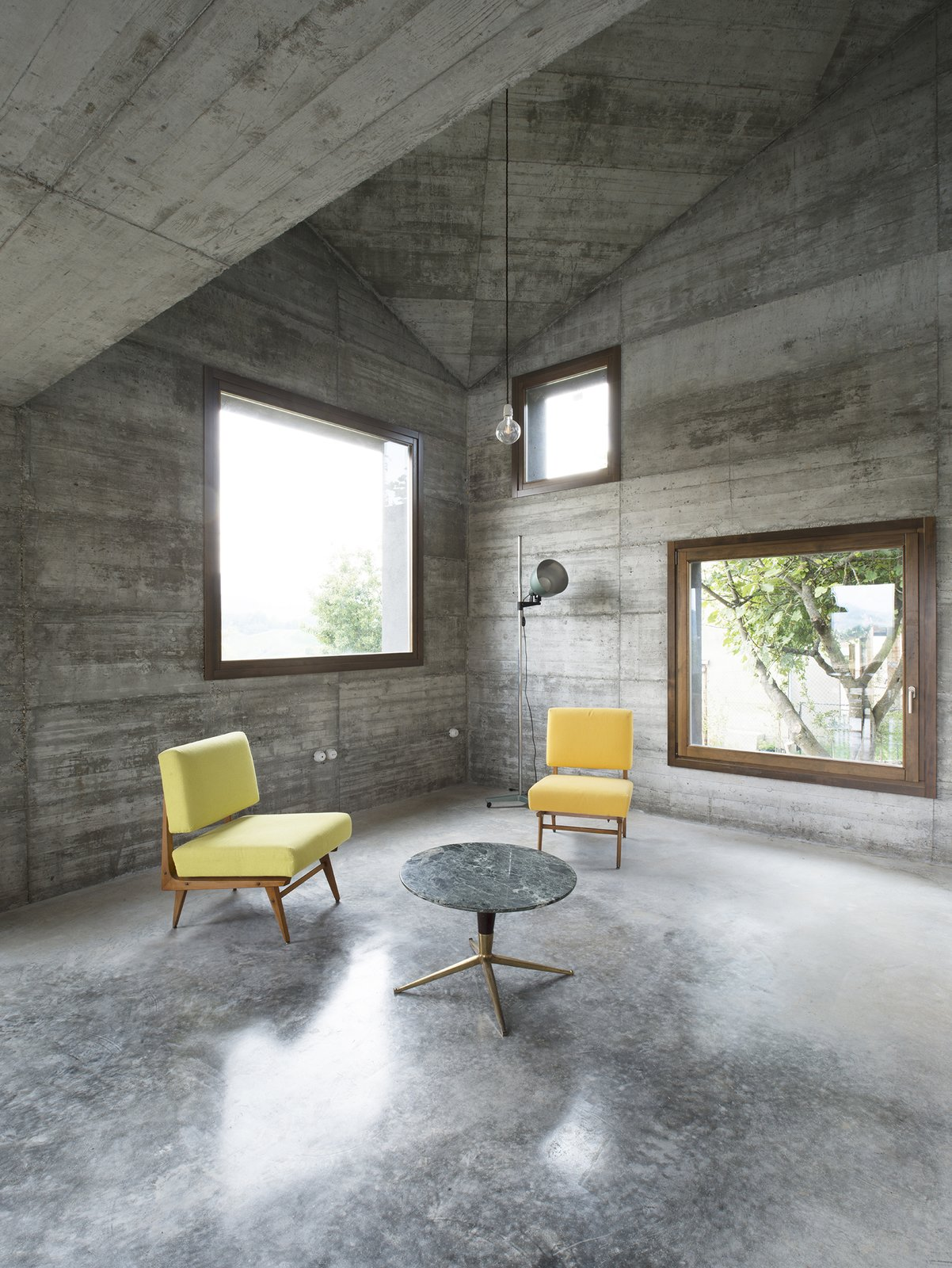 Tagged: Living Room, Chair, Sofa, End Tables, Ceiling Lighting, Pendant Lighting, Floor Lighting, and Concrete Floor.  HOUSE R by 35astudio