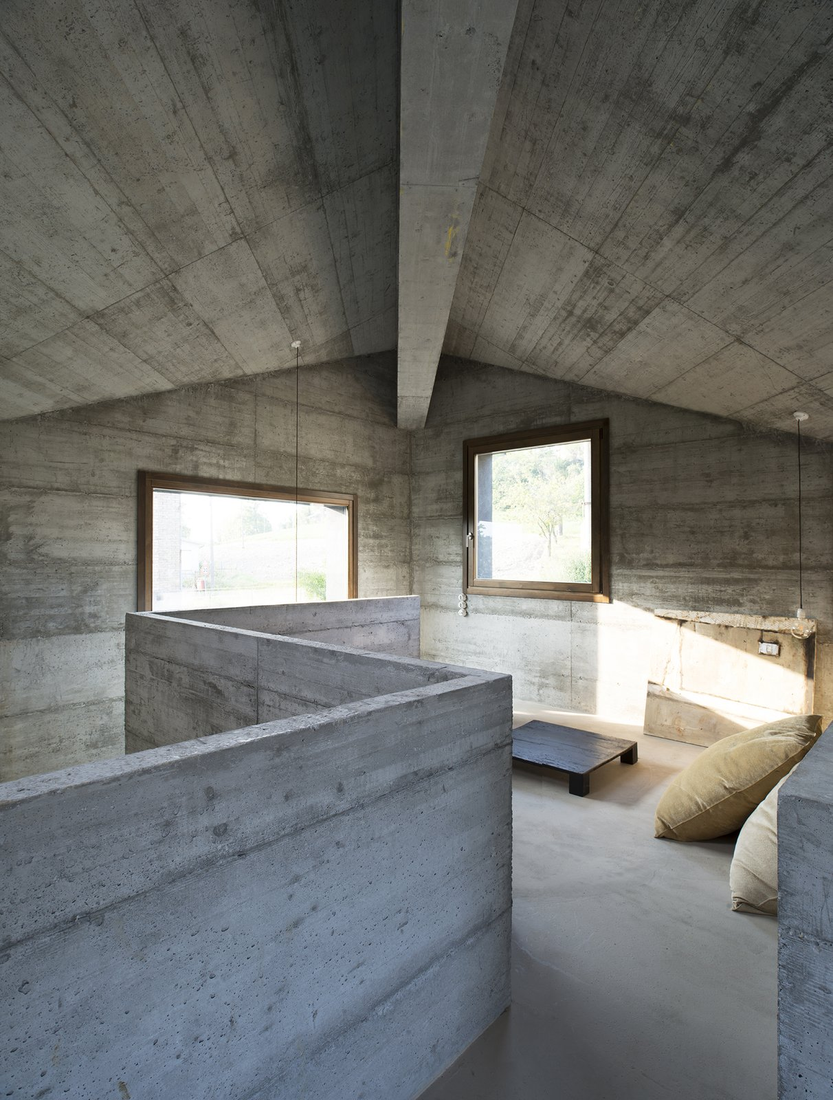 Tagged: Bedroom, Bed, Concrete Floor, and Pendant Lighting.  HOUSE R by 35astudio