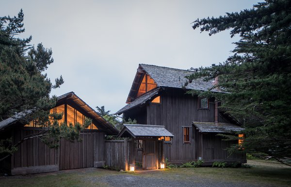 Modern home with outdoor, front yard, and trees. Photo 8 of Hinoki House