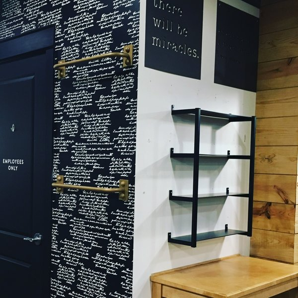 Modern home with office. Custom Shelf at Magnolia Market at the Silo's Photo 11 of Shelving Units