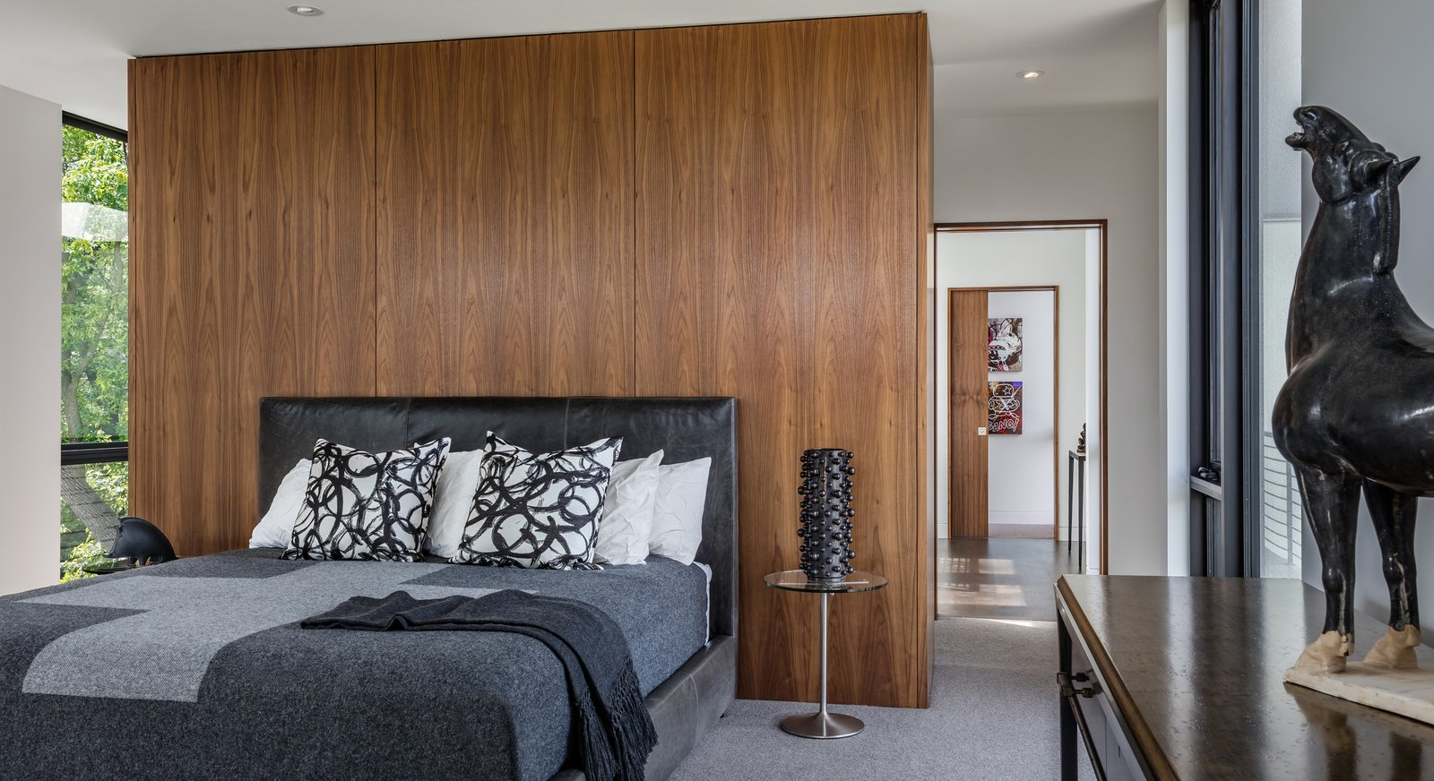 Tagged: Bedroom, Storage, Bed, and Ceiling Lighting.  Calhoun Pavilions Residence by Peterssen/Keller Architecture