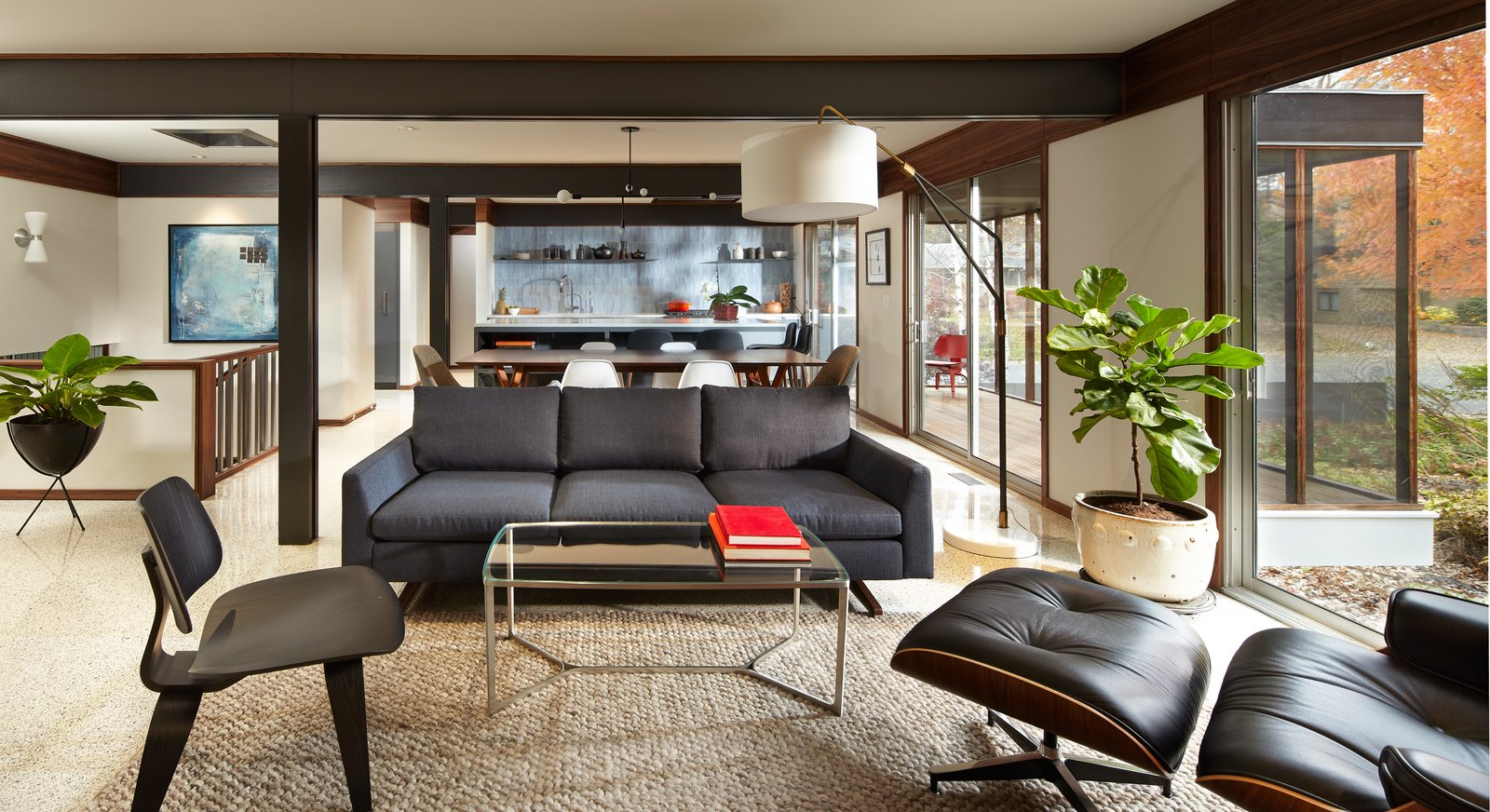 Tagged: Living Room, Chair, Sofa, and Floor Lighting. South Tyrol Mid-Century by Peterssen/Keller Architecture