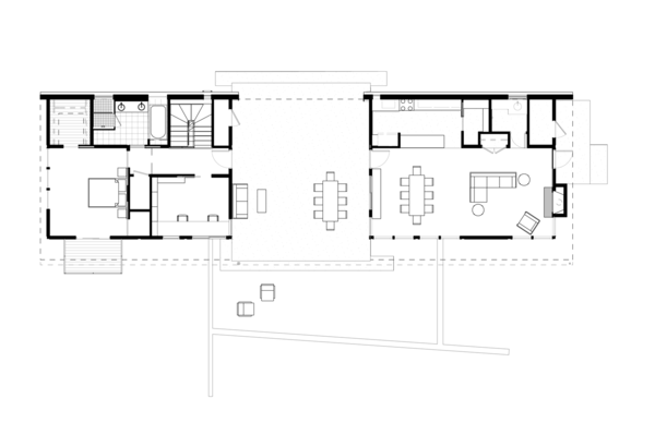 Main Floor Plan Photo 16 of Dogtrot at Stony Point modern home