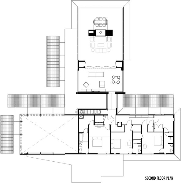 Second Floor Plan Photo 6 of Lantern on Linkhorn Bay modern home