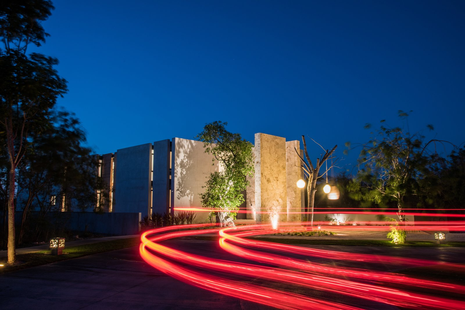Facade Tagged: Outdoor, Front Yard, and Landscape Lighting.  Casa Chaaltun by tescala