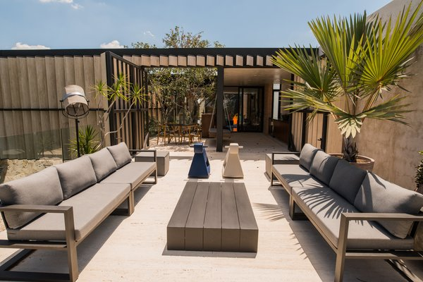 Modern home with outdoor, rooftop, and trees. Sunset Terrace Photo 5 of Casa Chaaltun